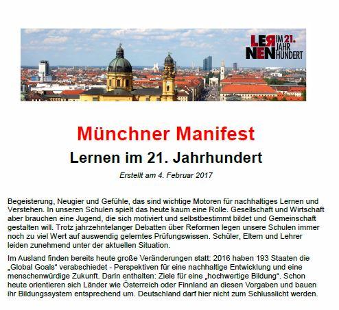 Veröffentlichung des Münchner Manifests